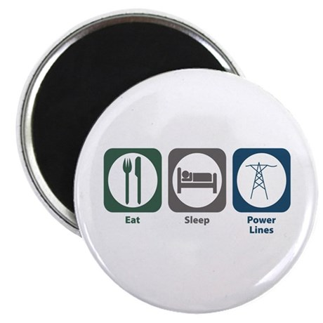 Eat Sleep Power Lines Magnet