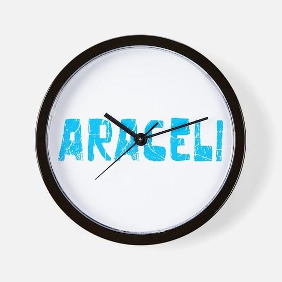 Araceli Faded (Blue) Wall Clock