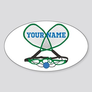 Personalized Racquetball Sticker