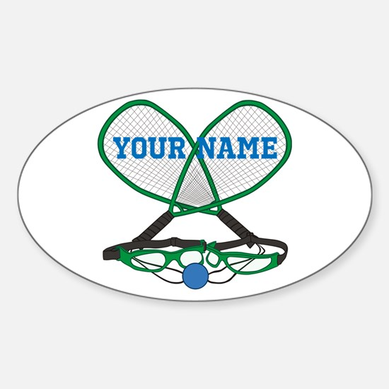 Personalized Racquetball Decal