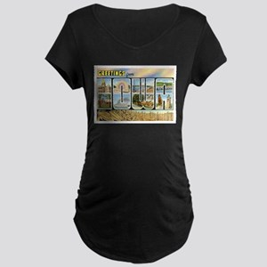 Iowa Postcard Maternity Dark T-Shirt