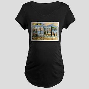 Iowa Postcard Maternity Dark T-Shirt