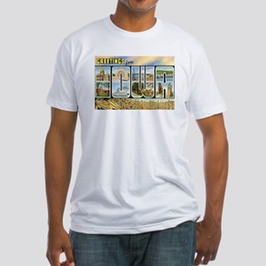 Iowa Postcard Fitted T-Shirt