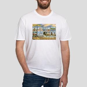 Iowa Postcard Fitted T-Shirt