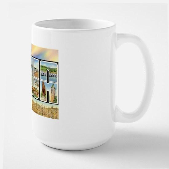 Iowa Postcard Large Mug