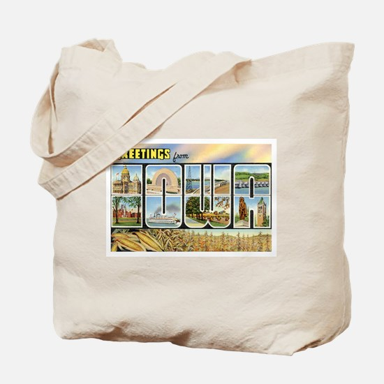 Iowa Postcard Tote Bag