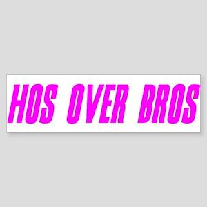 """Hos Over Bros Remix"" Bumper Sticker"