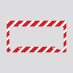 Red Striped License Plate Holder