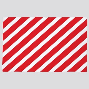 Red Striped 4' x 6' Rug