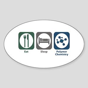 Eat Sleep Polymer Chemistry Oval Sticker