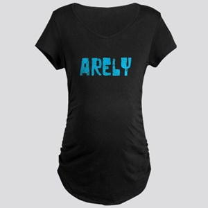 Arely Faded (Blue) Maternity Dark T-Shirt