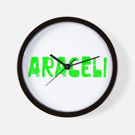 Araceli Faded (Green) Wall Clock