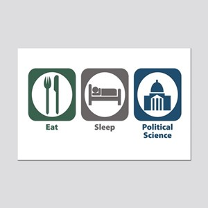 Eat Sleep Political Science Mini Poster Print