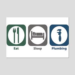 Eat Sleep Plumbing Mini Poster Print