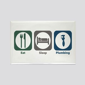 Eat Sleep Plumbing Rectangle Magnet