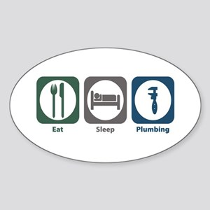 Eat Sleep Plumbing Oval Sticker