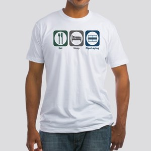 Eat Sleep Pipe Laying Fitted T-Shirt