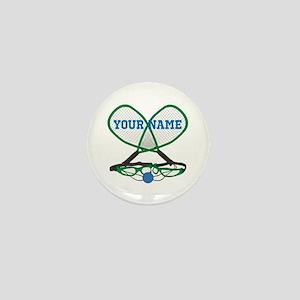 Personalized Racquetball Mini Button