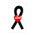 Black Hope Rectangle Sticker 50 pk)