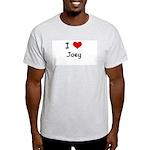 I LOVE JOEY Ash Grey T-Shirt