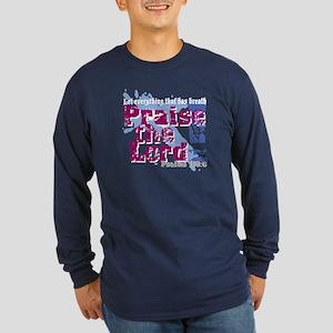 Psalms 150:6 Long Sleeve Dark T-Shirt