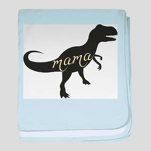 Mama Dino baby blanket