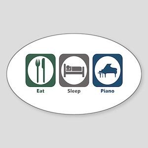 Eat Sleep Piano Oval Sticker