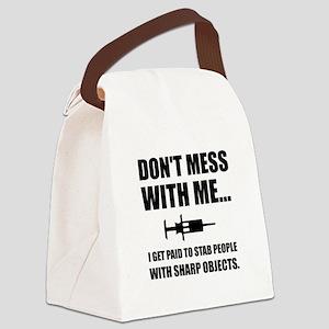 Stab Syringe Medical Canvas Lunch Bag