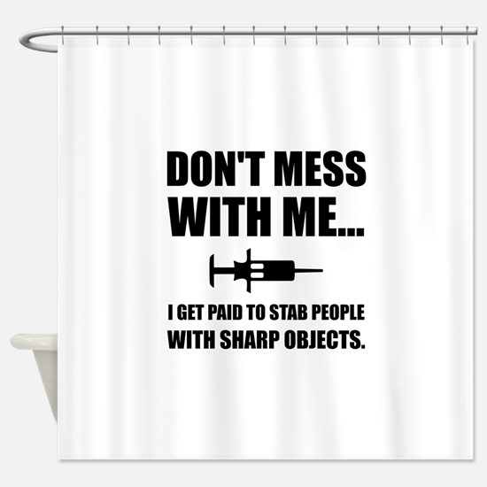 Stab Syringe Medical Shower Curtain
