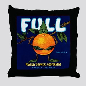 Full Oranges Throw Pillow