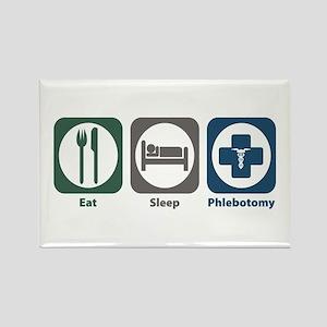 Eat Sleep Phlebotomy Rectangle Magnet