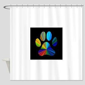 better pawprint Shower Curtain
