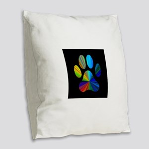 better pawprint Burlap Throw Pillow