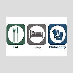 Eat Sleep Philosophy Mini Poster Print