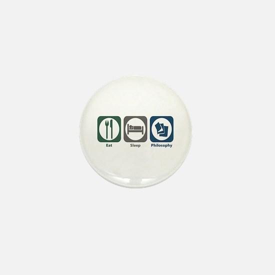 Eat Sleep Philosophy Mini Button
