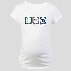 Eat Sleep Philosophy Maternity T-Shirt