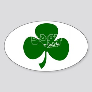 Represent! Daft Irish Logo Oval Sticker