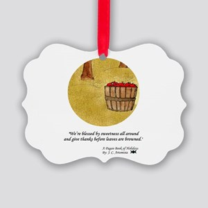 Mabon, Fall Equinox Blessing Picture Ornament