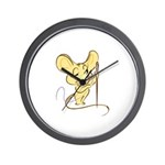 Sewing Mouse - Needle and Thr Wall Clock