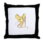 Sewing Mouse - Needle and Thr Throw Pillow