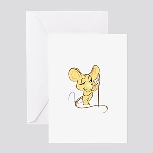 Sewing Mouse - Needle and Thr Greeting Card