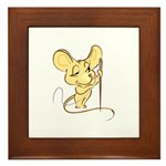 Sewing Mouse - Needle and Thr Framed Tile