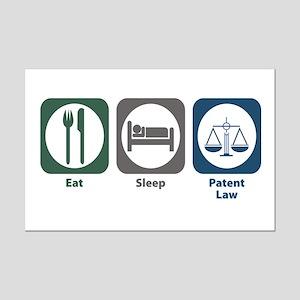 Eat Sleep Patent Law Mini Poster Print