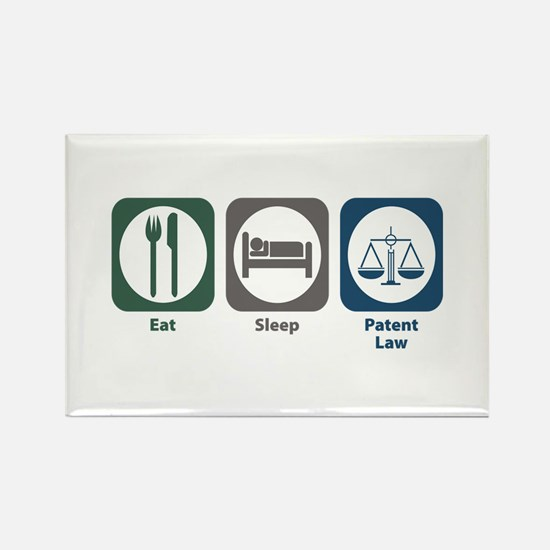 Eat Sleep Patent Law Rectangle Magnet