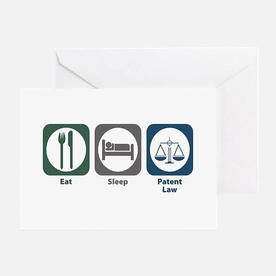 Eat Sleep Patent Law Greeting Card