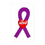 Purple Hope Rectangle Sticker 10 pk)