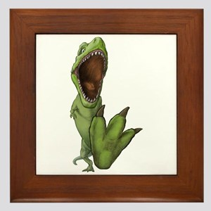 Dino Stomp Framed Tile