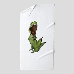 Dino Stomp Beach Towel