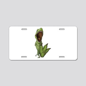 Dino Stomp Aluminum License Plate