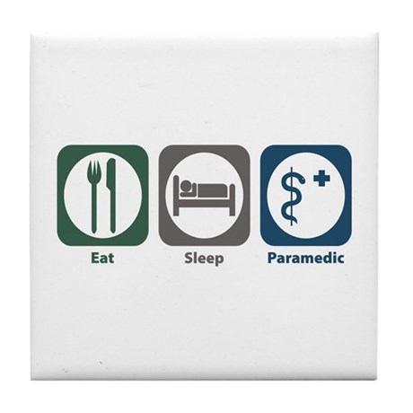 Eat Sleep Paramedic Tile Coaster